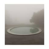 Circular Pond, Joaquin Miller Park, Oakland, CA (Urban Park, Fog) Photographic Print by Henri Silberman