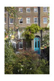 London Garden with Apples and Blue Door (18th Century Row House, Rear View) Photographic Print by Henri Silberman