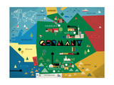 Germany Map Giclee Print