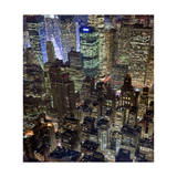 New York City, Top View 10 (Met Life Building, Looking North, Night) Photographic Print by Henri Silberman