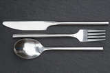 Macro Image of Cutlery Set on Rustic Background Posters by  Veneratio