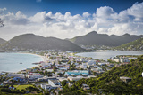 Philipsburg, Sint Maarten, Dutch Antilles Cityscape at the Great Salt Pond. Photographic Print by  SeanPavonePhoto