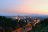 Asheville, North Carolina Skyline Nestled in the Blue Ridge Mountains. Photographic Print by  SeanPavonePhoto