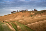 Ancient Chalk White Horse in Landscape at Cherhill Wiltshire England during Autumn Evening Posters by  Veneratio