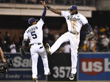 Sep 24, 2014, Colorado Rockies vs San Diego Padres - Cameron Maybin Photographic Print by Denis Poroy