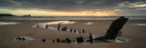 Landscape Panorama Ship Wreck on Rhosilli Bay Beach in Wales at Sunset Photographic Print by  Veneratio