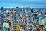 Skyline of Tokyo, Japan towards Shinjuku Photographic Print by  SeanPavonePhoto