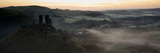 Panorama Landscape of Medieval Castle in Misty Sunrise Morning Prints by  Veneratio