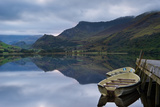 Llyn Nantlle at Sunrise Looking towards Mist Shrouded Mount Snowdon Photographic Print by  Veneratio