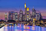 Skyline of Frankfurt, Germany, the Financial Center of the Country. Photographic Print by  SeanPavonePhoto