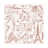 LOVE in Paris Doodles Prints by Alisa Foytik