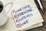 TEAM Acronym (Together Everyone Achieves More), Teamwork Motivation Concept - a Napkin Doodle Prints by  PixelsAway