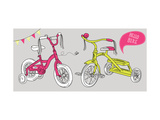 Kids Bicycles, a Girls Bike and a Tricycle Prints by Alisa Foytik