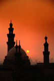 Mosques and Sunset in Cairo, Egypt Photographic Print by Glen Allison