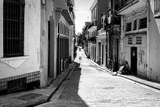 Grunge Black and White Image of a Shabby Street in Havana Photographic Print by  Kamira