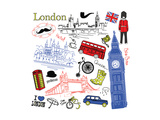London Doodles Posters by Alisa Foytik