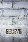 Believe Word Photographic Print by Yury Zap