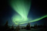 Canada, Manitoba, Wapusk National Park, Aurora Borealis Photographic Print by Theo Allofs