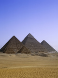 Pyramids in Desert Landscape, close up View Photographic Print by Stephen Studd