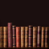 Old Vintage Books Standing in a Row Posters by  egal