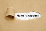 Ivelin Radkov - Make it Happen Torn Paper Fotografická reprodukce