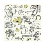 Saint Patrick's Day Doodles - Vintage Style Art by Alisa Foytik