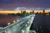 Skyline of St. Petersburg, Florida from the Pier. Photographic Print by  SeanPavonePhoto