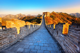 Great Wall of China in Autumn Photographic Print by Liang Zhang