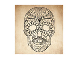 Day of the Dead Grungy Skull Prints by Alisa Foytik