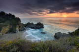 Winter Sunset Mcway Cove Photographic Print by Don Smith