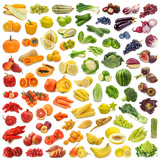 Rainbow Collection of Fruits and Vegetables Prints by  egal
