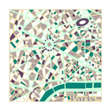 Vector Background Abstract Pattern Paris City Map Trendy Colors Prints by  EverstRuslan