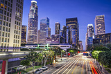 Los Angeles, California, USA Early Morning Downtown Cityscape. Photographic Print by  SeanPavonePhoto
