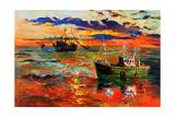 Fishing Ships Prints by Boyan Dimitrov