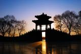 View of Pavilion in Sunset,Summer Palace of Beijing,China. Photographic Print by Liang Zhang