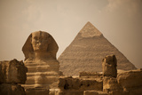 Sphinx and Great Pyramid Fotografisk tryk af Marianne Williams