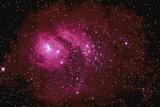 Red Nebula Photographic Print by  Stocktrek