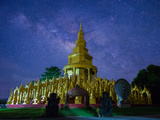 Milky with Temple Photographic Print by  Prachanart