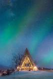 Northern Lights over the Arctic Cathedral Photographic Print by coolbiere photograph
