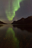 Aurora Borealis Reflected in Fiord Photographic Print by Produced by Oliver C Wright