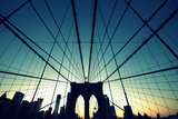 Brooklyn Bridge Cross Processed Photographic Print by Copyright Ralph Grunewald