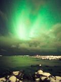 Northern Lights over Vigra Photographic Print by Severin Sadjina - sesaphoto.com