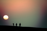 SUNSET AND THE THREE MEN Photographic Print by Sen Lin Photography