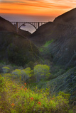 Usa, California, Big Sur, Bixby Bridge Photographic Print by Don Smith