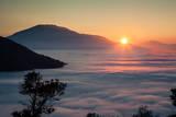 Sun Setting over Fog Photographic Print by Azem Ramadani