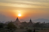 Sunset from atop the Shwesandaw Paya Photographic Print by Jim Simmen
