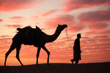 Sunset in Jaisalmer Photographic Print by Milind Torney