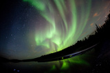 Aurora Borealis Shimmers over Vee Lake Photographic Print by Dave Brosha Photography