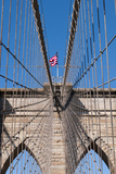 Upward Image of Brooklyn Bridge in New York Photographic Print by burak pekakcan