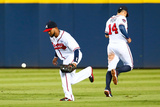 Sep 25, 2014, Pittsburgh Pirates vs Atlanta Braves - Emilio Bonifacio Photographic Print by Kevin C. Cox